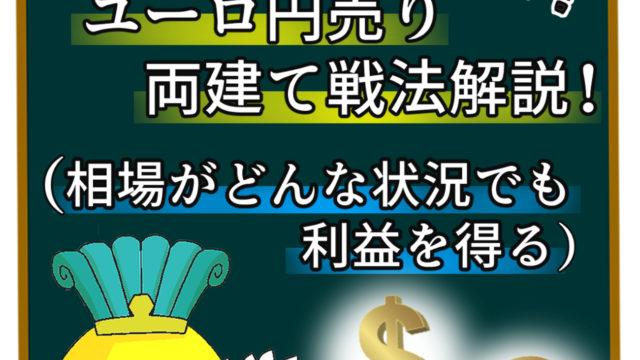 ドル円買いユーロ円売り両建て戦法解説