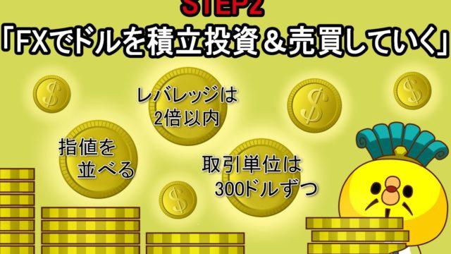 STEP2「米ドル投資 毎月100ドルずつ少額投資を始める」