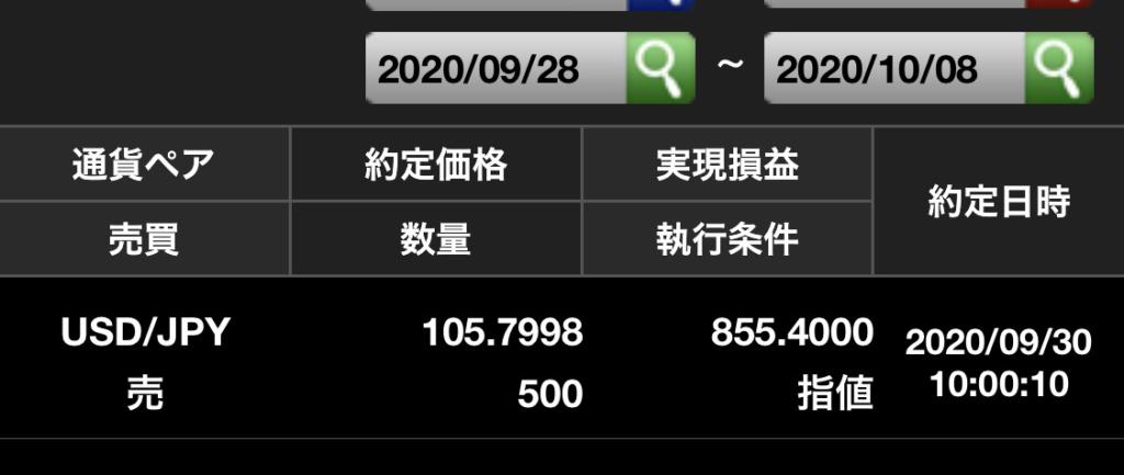 ドル円約定